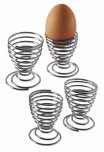Kitchen Craft Chrome Plated Wire Egg Cup, Set of 4