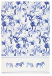 KitchenCraft Blue Safari Tea Towel, Set of 2