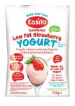 EasiYo Sweetened Low Fat Strawberry Flavour Yogurt Mix 215g