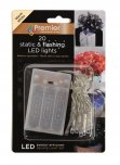 Premier Decorations Battery Operated Static & Flashing 20 LED Lights - Warm White