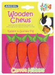 Ancol Wooden Chews Carrot Nibbles Pack of 4
