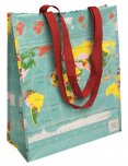 Rex World Map Design Shopper Bag