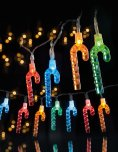 Premier Decorations Candy Cane String Lights 20 LED - Multicoloured