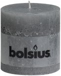 Bolsius Pillar Candle Light Grey 10cm x 10cm