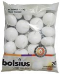 Bolsius Floating Candles White 3cm x 4.5cm 20PK