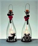 Premier Decorations Clear Glass Bottle with LED Lights 27.5cm - Assorted