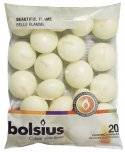 Bolsius Floating Candles Ivory 3cm x 4.5cm 20PK