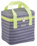 KitchenCraft Grey Stripped Lunch / Snack Cool Bag, 5 Litres