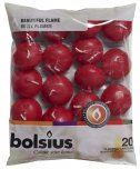 Bolsius Floating Candles Wine Red 20PK