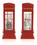 Premier Decorations Water Spinner Telephone Box 26.5cm - Assorted