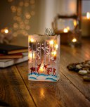 Premier Decorations Battery Operated Lit Rectangular Vase 15cm