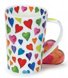 Dunoon Argyll Shape Fine Bone China Mug - Warm Hearts