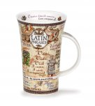 Dunoon Glencoe Shape Fine Bone China Mug - Latin Phrases