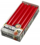 Bolsius Dinner Candle Red 23cm x 2cm 10PK