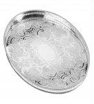 Arthur Price Exclusive Silverware Oval Mounted Gallery Tray 15 1/4
