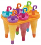 Let's Make Umbrella Ice Lolly Moulds,Set of Six,
