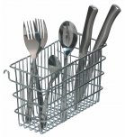 KitchenCraft Hook Over Cutlery Draining Basket, 20cm x 12cm x 8cm