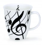 Dunoon Nevis Shape Fine Bone China Mug - Ebony