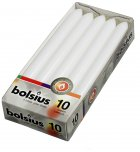 Bolsius Dinner Candle White 10PK