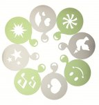 Kitchen Craft Le'Xpress Set of Eight Shaker Stencils
