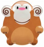 Let's Make Mason Monkey Shaped Melamine Plate 19cm