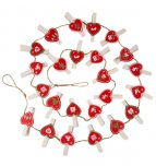 Sass & Belle Christmas Advent String Calendar with Heart Pegs