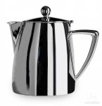 Café Stål Art Deco Mirror Finish 64oz Stainless Steel Tea Pot