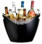 BarCraft Black Acrylic Drinks Pail/Cooler