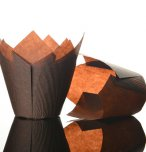 NJ Products Tulip Muffin Wraps Chocolate (Pack of 50)