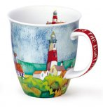 Dunoon Nevis Shape Fine Bone China Mug - By The Coast - Lighthouse
