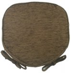 Evans Lichfield Savannah Walled Seat Pad - Chocolate