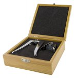 Grunwerg 3 Piece Champagne Set In A Bamboo Case