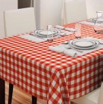 D-C-Fix Cut to Order Tablecloth - Avanti Red & White