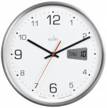 Acctim Kalendar Wall Clock Silver