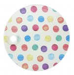 KitchenCraft Round Toughened Glass Worktop Protector Polka Dot 24cm