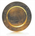 Premier Decorations Charger Plate 33cm - Gold