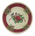 Premier Decorations Charger Plate 40cm - Robin