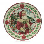 Premier Decorations Charger Plate 40cm - Santa