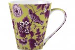 V&A Garden Birds Small Fine China Mug Lime Green