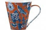 V&A Garden Birds Small Fine China Mug Orange