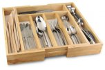 Apollo Housewares Rubberwood Expanding Cutlery Tray 32cm-58cm