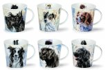 Dunoon Cairngorm Shape Fine Bone China Mug - Dogs on Canvas