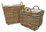 Manor Reproductions Rattan Basket Dorchester - Set of 2