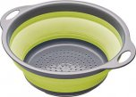 Colourworks Collapsible Colander with Grey Handles Green