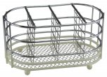 Apollo Housewares Chrome Dip Cutlery Caddy Cream