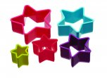 Colourworks Brights Five Piece Star Shaped Cookie Cutter Set