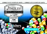 Jingles 240 LED Switcher Chasing Lights - White/Multicoloured