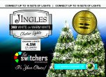 Jingles 360 LED Switcher Chasing Lights - White/Warm White