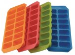 Apollo Housewares Soft Silicone Ice Cube Tray Assorted