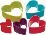 Colourworks Brights Plastic Cookie/Pastry Cutter Set - Heart (Set of 5)